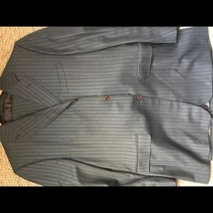 CANALI MENS 3 BUTTON SUIT AND PLEATED PANTS